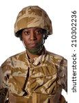black female soldier | Shutterstock . vector #210302236