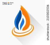 vector symbol fire. dark blue... | Shutterstock .eps vector #210302536