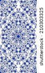 Seamless Blue Floral Pattern....