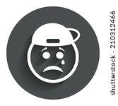 sad rapper face with tear sign...