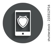 smartphone protection sign icon....