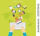 internet shopping concept. e...   Shutterstock .eps vector #210315616