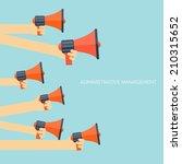 flat loudspeaker icon.... | Shutterstock .eps vector #210315652