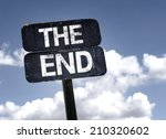 the end sign with clouds and... | Shutterstock . vector #210320602