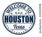 welcome to houston grunge... | Shutterstock .eps vector #210324598
