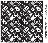 car part icons and background | Shutterstock .eps vector #210329566