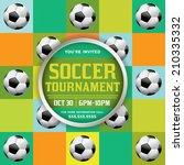 a nice design for a soccer... | Shutterstock .eps vector #210335332