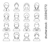 vector outline user icons ... | Shutterstock .eps vector #210342772
