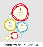 infographic templates for... | Shutterstock .eps vector #210344356