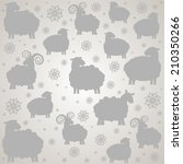 seamless pattern with sheep.... | Shutterstock .eps vector #210350266