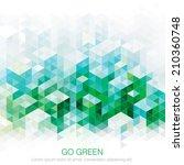Abstract Geometric Green Urban...