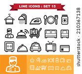 line icons set 15 .illustration ... | Shutterstock .eps vector #210367138