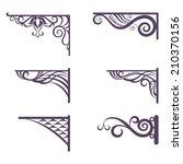 set decorative vintage forged... | Shutterstock . vector #210370156