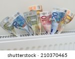 Euro Banknotes Coming Out Of A...