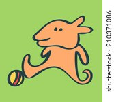 funny football player  | Shutterstock .eps vector #210371086