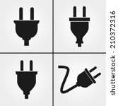 electric plug icons | Shutterstock .eps vector #210372316