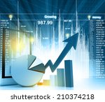 economical business chart | Shutterstock . vector #210374218