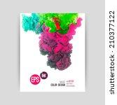 vector abstract cloud. ink...   Shutterstock .eps vector #210377122