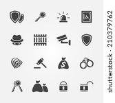 security icons   vector simple... | Shutterstock .eps vector #210379762