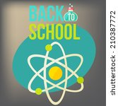 back to school design template. ... | Shutterstock .eps vector #210387772