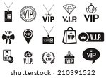 set of  vip icons