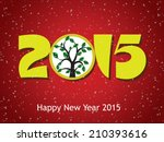 happy new year 2015 creative... | Shutterstock . vector #210393616
