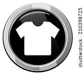 t shirt black round icon....   Shutterstock .eps vector #210398725
