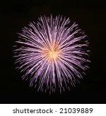 Fireworks Display On A Dark...
