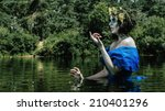 drowned water nymph horror... | Shutterstock . vector #210401296