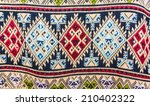 thai pattern on cotton fabrics  ... | Shutterstock . vector #210402322