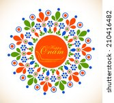 colorful floral design... | Shutterstock .eps vector #210416482