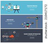 flat designed banners for... | Shutterstock .eps vector #210417172