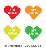 vector  new arrival sign icon... | Shutterstock .eps vector #210423715
