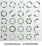circular arrows  | Shutterstock .eps vector #210430438