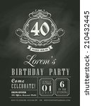 anniversary birthday invitation ... | Shutterstock .eps vector #210432445