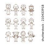 diversity of races over white ... | Shutterstock .eps vector #210433918