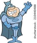 cartoon illustration of a super ...   Shutterstock . vector #210440488