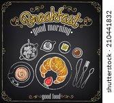 vintage poster. breakfast.... | Shutterstock .eps vector #210441832