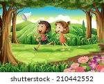 illustration of the kids... | Shutterstock . vector #210442552