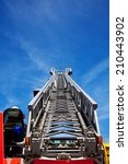 Small photo of Aerial ladder of a fire truck