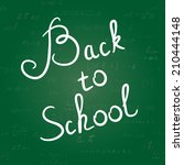 back to school background....   Shutterstock .eps vector #210444148
