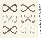 set of limitless icons ... | Shutterstock .eps vector #210450256