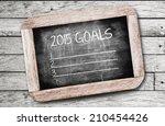 2015 goals  writing on... | Shutterstock . vector #210454426