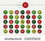 christmas colorful flat icons...