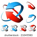 3d arrows | Shutterstock .eps vector #21045583