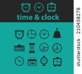 time  clock icons  signs ...