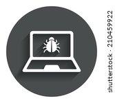 laptop virus sign icon....