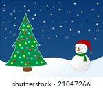 winter scene | Shutterstock .eps vector #21047266