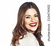 happy woman emotional portrait. ... | Shutterstock . vector #210474502