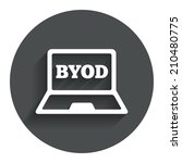 byod sign icon. bring your own... | Shutterstock . vector #210480775